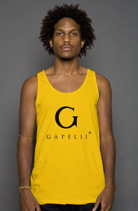 Gapelii Cotton Tank Top Gold (Logo Black)