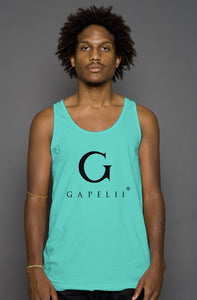 Gapelii Cotton Tank Top Teal (Logo Black)