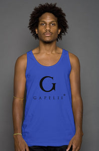 Gapelii Cotton Tank Top Royal (Logo Black)