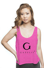 Load image into Gallery viewer, Gapelii Womens flowy boxy tank neon pink (Logo Bla