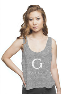 Gapelii Womens flowy boxy tank heather grey (Logo