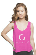 Load image into Gallery viewer, Gapelii Womens flowy boxy tank neon pink (Logo whi