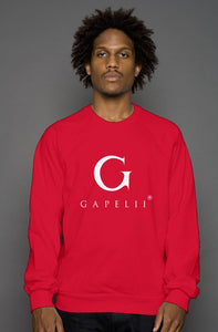Red Crew Neck Sweatshirt (White Logo)