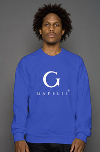 Royal Crew Neck Sweatshirt (White Logo)