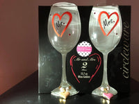 Mr. & Mrs. Stemmed Wine Glass Box Gift Set