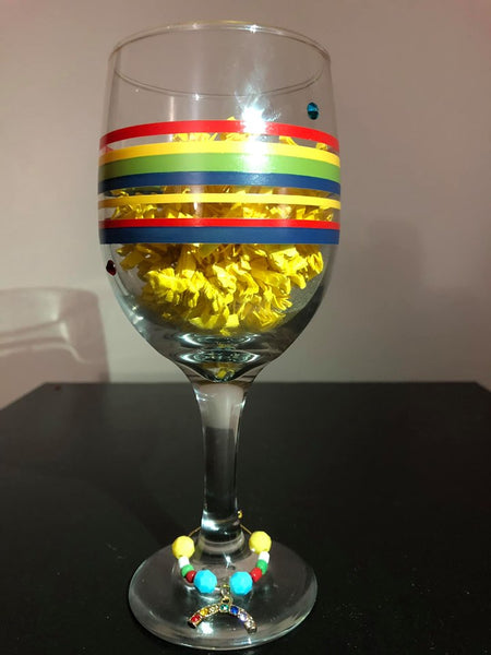 Rainbow Pride Wine Glass