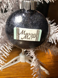 Black Glitter Engaged Collection Ornaments Part II