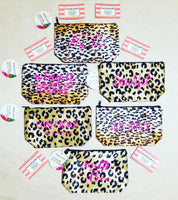 """Stay Fancy"" Animal Print Makeup Case"