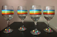 Pride Wine Glasses with Wine Charms