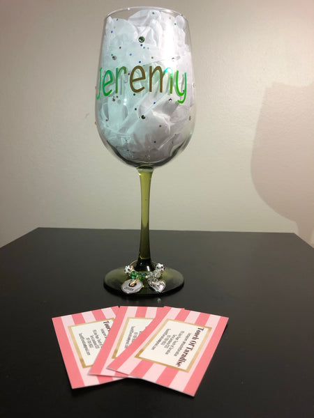 Personalized Wine Glass for a Nurse
