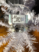 "3D Ornaments ~ ""Marry Me"" ""She Said Yes"" ""He asked"""