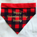 Valentine's Day Personalized Pet Bandana