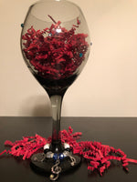 Musician's Wine Glass with Musical Wine Charms