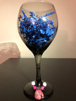 Breast Cancer Wine Glass and Wine Charms