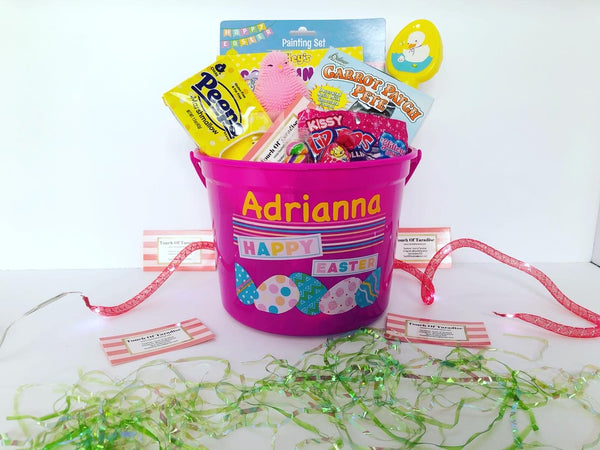 Girl's Easter Basket - FREE SINGLE NAME PERSONALIZATION