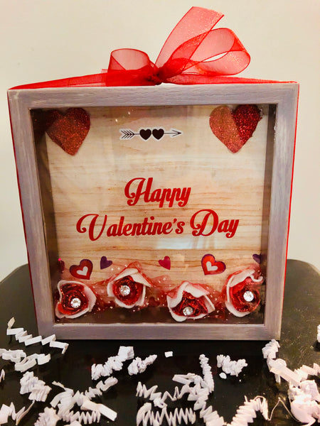 Happy Valentine's Day Shadow Box