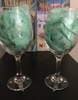 Partners in Crime Set Of 2 Wine Glass set