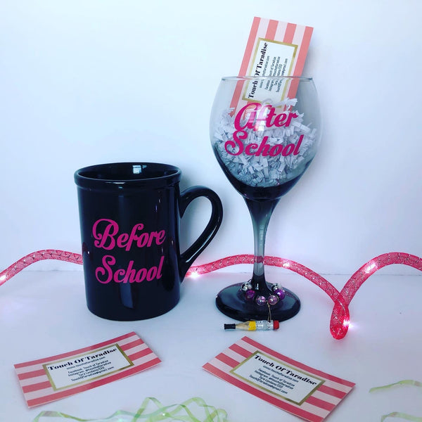 Coffee Mug and Wine Glass Set