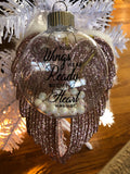 Remembrance Ornament with Angel Wings