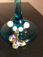 Butterfly Wine Glasses with Wine Charms