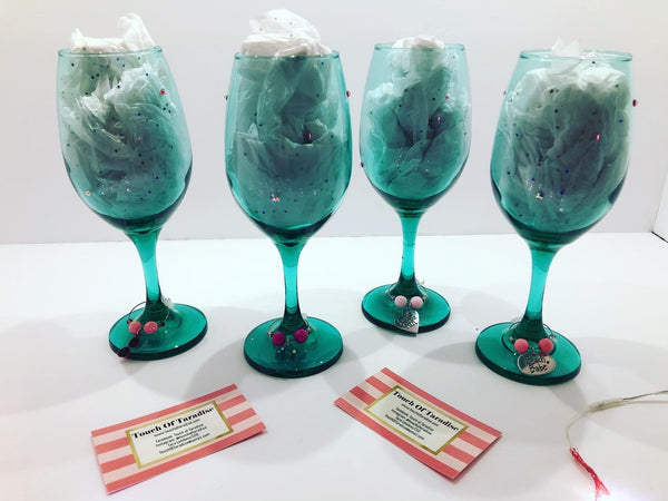 Beach Themed Wine Glasses and Charms