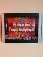 Valentine's Day Shadow box ~ Love Quote ~ My Dear Diamond