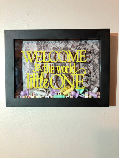 """Welcome to the world little one"" Shadow Box"