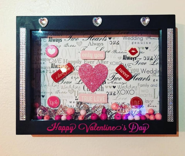 Beautiful Valentine's Day Shadow Box