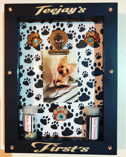 Pet Keepsake Shadowbox of Memories
