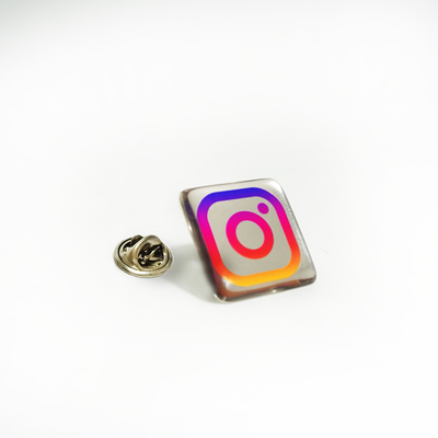 25mm Square Lapel Pin