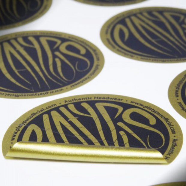 Gold Commercial Stickers
