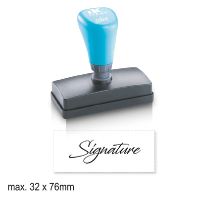 Large Pre-Inked Signature Stamp