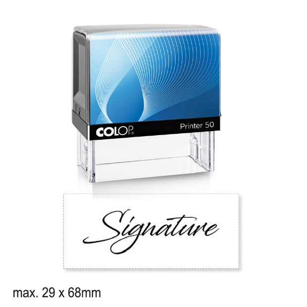 Large Self-Inking Signature Stamp
