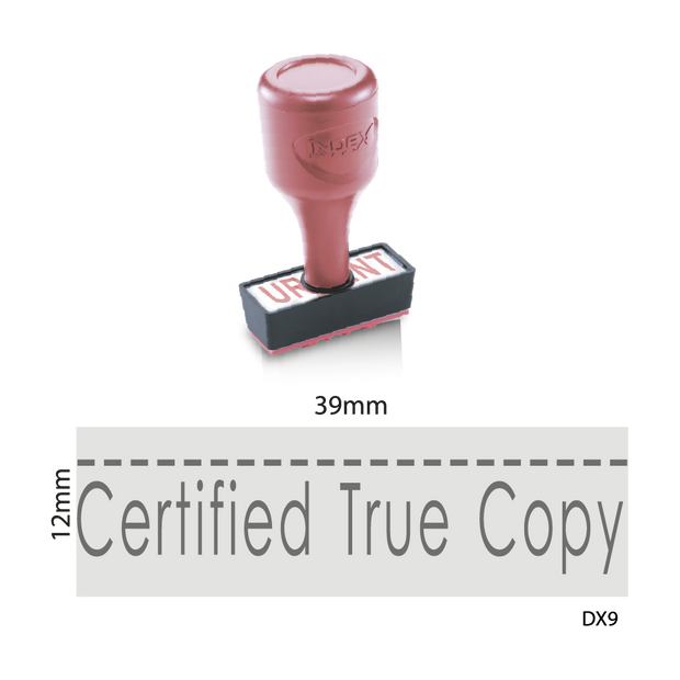 Certified True Copy with Signature