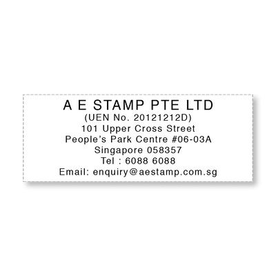 Company Address Stamp | Pre-Inked