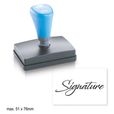 Extra Large Pre-Inked Signature Stamp