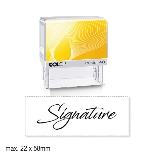 Medium Self-Inking Signature Stamp