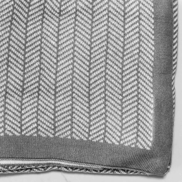 Knitted Herringbone Throw