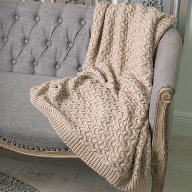 Chunky Knit Organic Cotton Throw