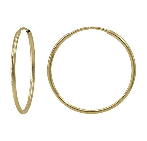 Gold Filled Skinny Hoops-40mm %Women's Clothing Boutique Collingwood% Hoop Earrings