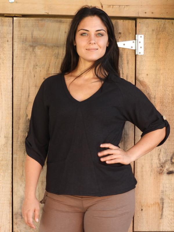 Horizon Deep V Pullover %Women's Clothing Boutique Collingwood% Top