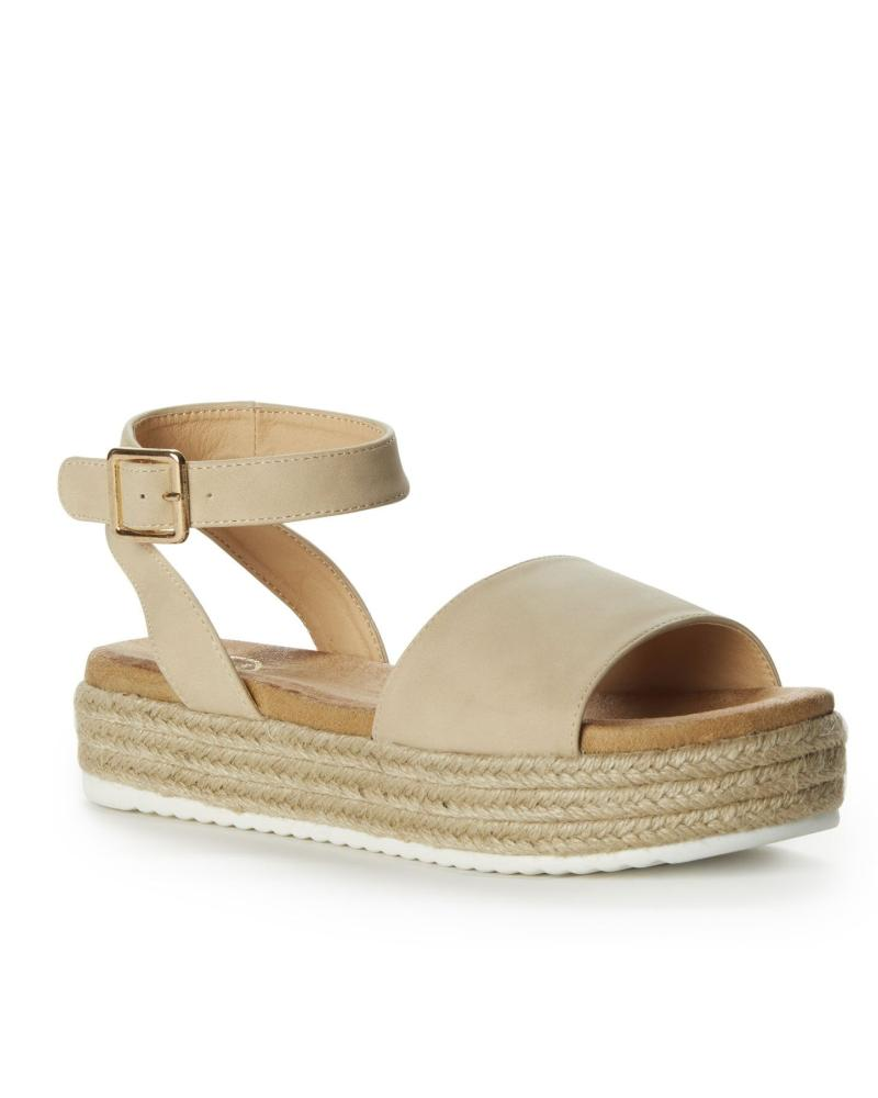 Mia Espadrille - Ivory (Vegan) %Women's Clothing Boutique Collingwood% Sandals