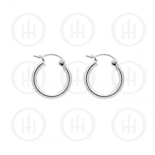 Plain Silver Hoops- 20mm %Women's Clothing Boutique Collingwood% Hoop Earrings
