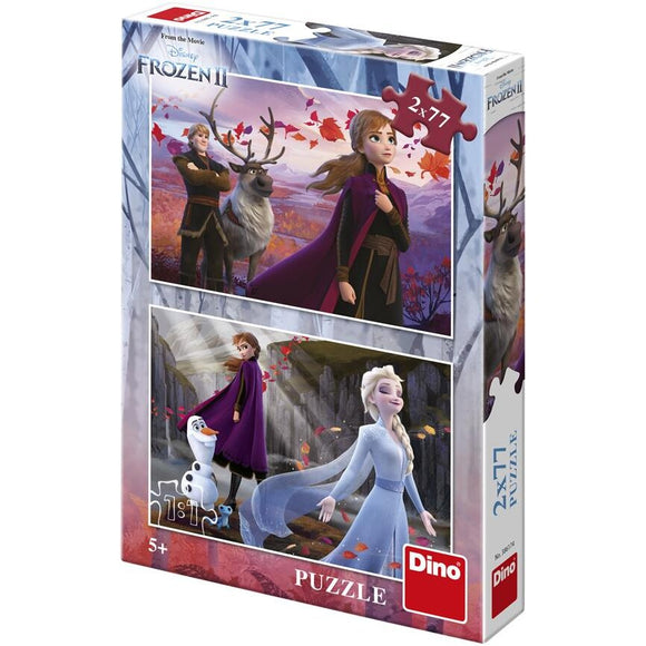 Puzzle 2 In 1 - Personaje Din Frozen (II) (77 Piese)