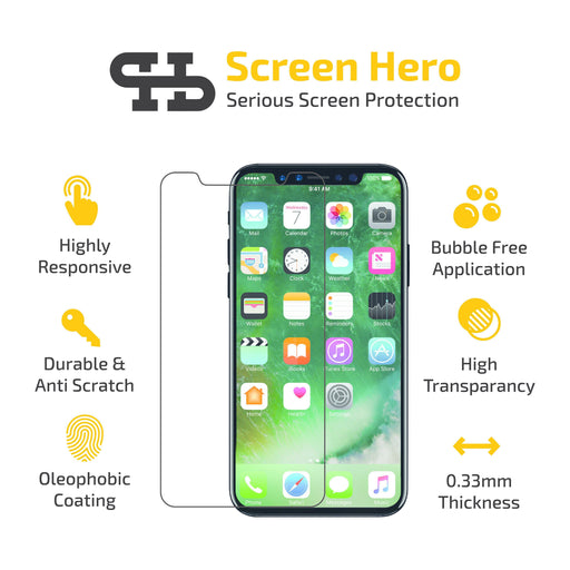 Apple iPhone 11 / iPhone XR Screen Protector Tempered Glass - ScreenHero_ie