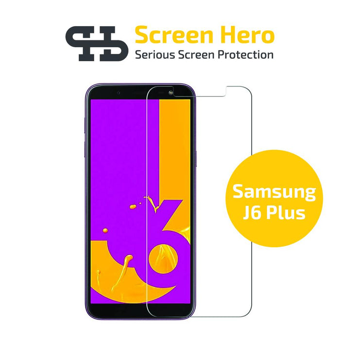 Samsung Galaxy J6 Plus 2018 Tempered Glass Screen Protector from Screen Hero - ScreenHero_ie