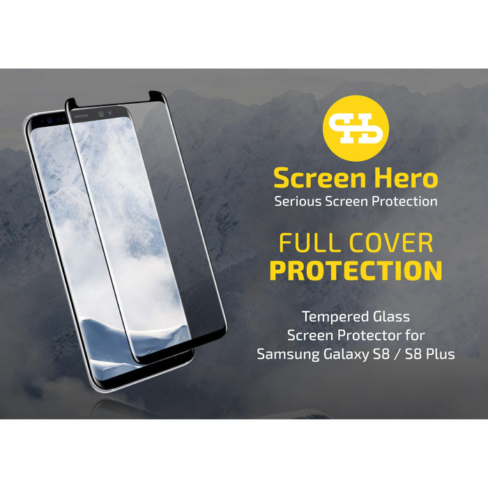 Samsung Galaxy S8 Plus Tempered Glass Screen Protector - ScreenHero_ie