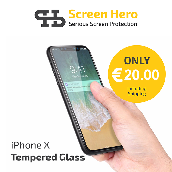 iPhone 11 Pro / iPhone X / XS Tempered Glass Screen Protector from Screen Hero - ScreenHero_ie