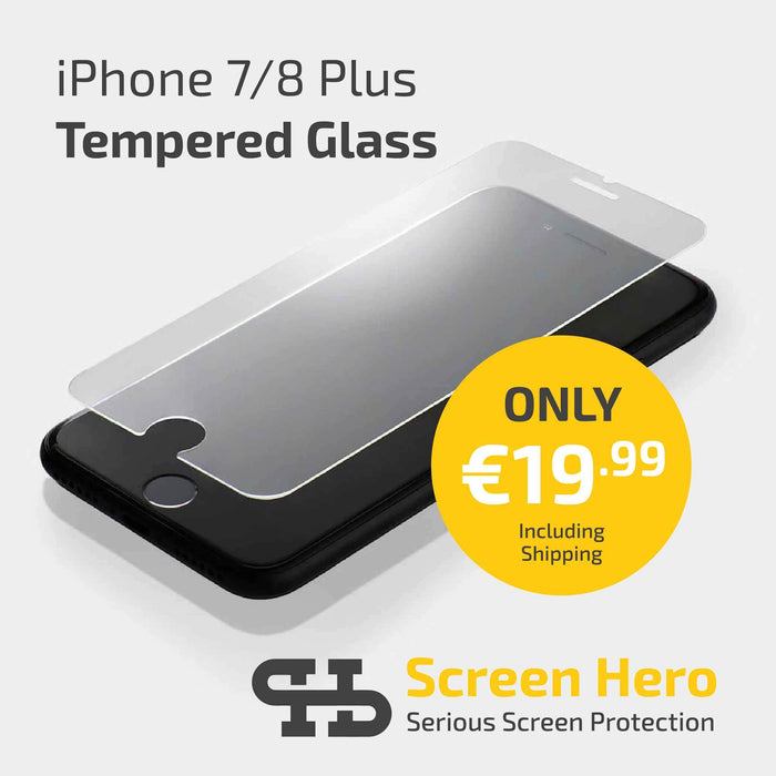 iPhone 8 Plus / 7 / 6 Plus Screen Protector Tempered Glass - ScreenHero_ie