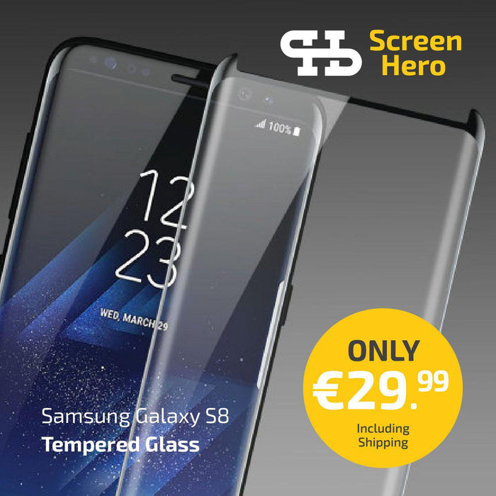 Samsung Galaxy S8 Tempered Glass Screen Protector from Screen Hero - ScreenHero_ie